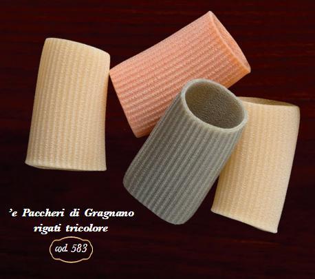 Paccheri di Gragnano rigati tricolore