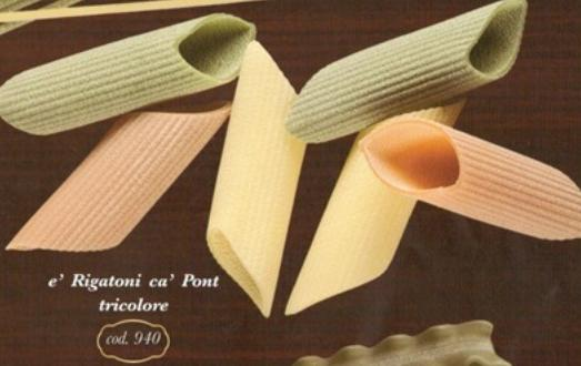 Rigatoni tricolore