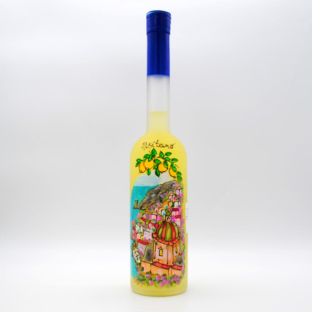 Bottiglia limoncello dipinta a mano 50cl